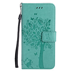 cheap iPhone 5c Cases-For Apple iPhone 7 Plus 7 PU Leather Cat and Tree Pattern Phone Case 6s Plus 6 Plus 6s 6 SE 5s 5 5c 4s 4