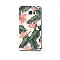 Voor Hoesje cover Ultradun Patroon Achterkantje hoesje Bloem Zacht TPU voor Samsung Note 5 Note 4 Note 3