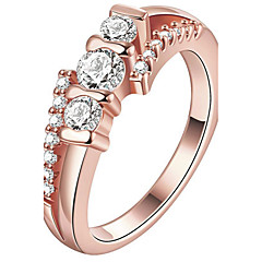 preiswerte Ringe-Damen Kristall Ring / Verlobungsring - Krystall, Kupfer, vergoldet Personalisiert, Luxus, Modisch 6 / 7 / 8 Gold / Rotgold Für Weihnachts Geschenke / Hochzeit / Party / Rose Gold überzogen