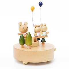 olcso -Zenedoboz Játékok Cuki Körkörös Körhinta Merry Go Round Fa Darabok Uniszex Ajándék