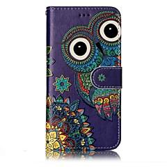 voordelige Hoesjes / covers voor LG-Voor lg g6 case cover uil patroon schijn reliëf pu materiaal kaart stent portemonnee telefoon hoesje