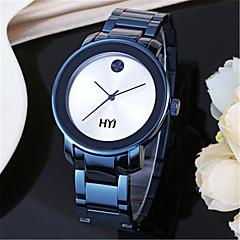 お買い得  レディース腕時計-男性 ファッションウォッチ リストウォッチ クォーツ 合金 バンド ブルー ゴールド ローズゴールド