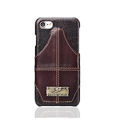 Fierre shann бренд для корпуса держателя карты задняя крышка корпуса сплошной цвет твердая натуральная кожа для Apple iphone 7 plus iphone