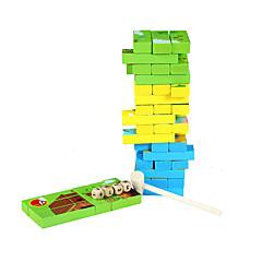 Bouwblokken Bordspel Legpuzzel Stapelspellen Speeltjes Vierkant Dieren Kinderen 1 Stuks