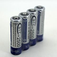 Nh-aa 2500 1.2 v şarj edilebilir