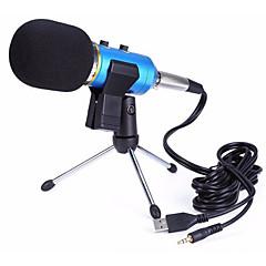 Недорогие Аудио и видео аксессуары-3,5 мм Микрофон Проводной Конденсаторный микрофон Ручной микрофон Назначение Компьютерный микрофон