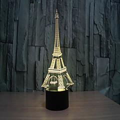 Kule 3 d lamba yaratıcı görsel stereo lamba dokunmatik lambalar projeksiyon lambası