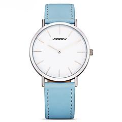 お買い得  レディース腕時計-女性用 ファッションウォッチ 本革 バンド カジュアル ブラック / ブルー / ブラウン
