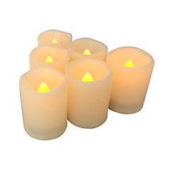 Ensemble de 6 bougies sans flamme bougies votives sans flamme conduit avec minuterie bougies led à batterie avec minuterie longue durée de