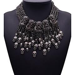 Жен. Заявление ожерелья Бижутерия Бижутерия Синтетические драгоценные камни Сплав Мода Euramerican Бижутерия Назначение Для вечеринок