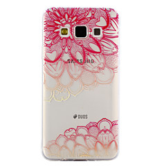 voordelige Galaxy A3 Hoesjes / covers-hoesje Voor Samsung Galaxy A5(2017) A3(2017) Transparant Reliëfopdruk Patroon Achterkantje Lace Printing Zacht TPU voor A3 (2017) A5