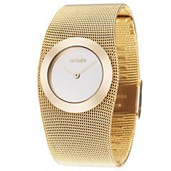 お買い得  大特価腕時計-ASJ 女性用 リストウォッチ 日本産 カジュアルウォッチ 合金 銅 バンド ハンズ ぜいたく ファッション エレガント ゴールド - ゴールデン 1年間 電池寿命 / SSUO SR626SW