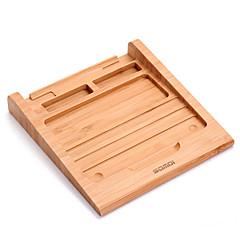 お買い得  タブレット用スタンド-三脚 タブレットスタンド 木製 ラバー アイデアキッチン用品 タブレットホルダー