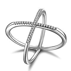 Εντυπωσιακά Δαχτυλίδια Cubic ZirconiaΜοναδικό Γεωμετρικό Πανκ Στυλ Rock Euramerican Κοσμήματα με στυλ μινιμαλιστικό στυλ Chrismas