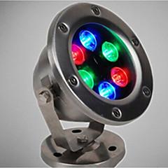 1adet 6w rgb ip68 dc12v su altı ışık 720lm yüksek kaliteli dış mekan aydınlatma
