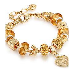 preiswerte Armbänder-Damen Geometrisch Strang-Armbänder - vergoldet Freunde, Herz Luxus, Dehnbar, Modisch Armbänder Gold Für Weihnachten / Weihnachts Geschenke / Hochzeit