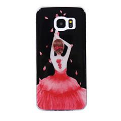 tanie Galaxy S6 Edge Etui / Pokrowce-Kılıf Na Samsung Galaxy S8 Plus S8 IMD Wzór Etui na tył Seksowna dziewczyna Połysk Miękkie TPU na S8 S8 Plus S7 edge S7 S6 edge S6