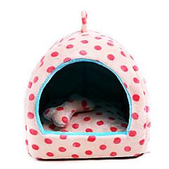 お買い得  犬用品-携帯用 / 高通気性 犬の服 ベッド 水玉 / 波点 ベージュ / ピンク / ライトブルー ネコ / 犬