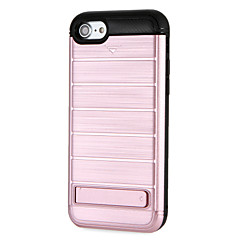 Недорогие Кейсы для iPhone 7 Plus-Кейс для Назначение Apple iPhone 7 Plus iPhone 7 со стендом Кейс на заднюю панель броня Твердый ПК для iPhone 7 Plus iPhone 7 iPhone 6s