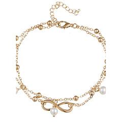 Łańcuszek na kostkę/Bransoletki Stop Bohemia Style biżuteria kostiumowa Nieskończoność Biżuteria Na Codzienny Casual