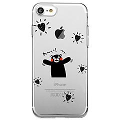 Для iphone 7 плюс 7 чехол для крышки экологичный прозрачный шаблон задняя крышка чехол слово / фраза сердце мягкая tpu для iphone 6splus