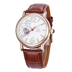 お買い得  レディース腕時計-女性用 機械式時計 クォーツ 30 m ホット販売 レザー バンド ハンズ チャーム ファッション ブラック / ブラウン / ピンク - Brown ピンク ブラック / ホワイト
