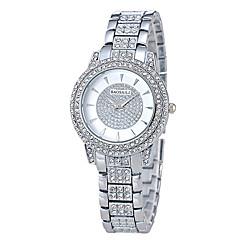 preiswerte Damenuhren-Damen Pavé-Uhr Quartz Silber / Gold / Rotgold Armbanduhren für den Alltag Analog damas Luxus Modisch - Gold Silber Rotgold