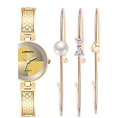 voordelige Elegante horloges-Dames Dress horloge Modieus horloge Polshorloge Armbandhorloge Kwarts Waterbestendig Stootvast Kleurrijk Roestvrij staal BandVintage