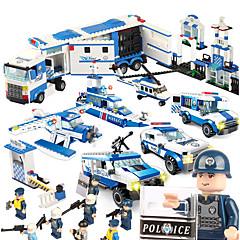 SHIBIAO Bausteine Spielzeuge Kriegsschiff Flugzeug Polizei Militär Heimwerken Unisex 1040 Stücke