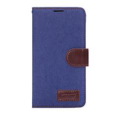 Недорогие Чехлы и кейсы для Galaxy Note Edge-Кейс для Назначение SSamsung Galaxy Бумажник для карт Кошелек со стендом Флип Чехол Сплошной цвет Твердый текстильный для Note 5 Note 4