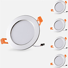 cheap Indoor Lights-5pcs 5 W 500 lm 10 LED Beads Easy Install Recessed LED Recessed Lights LED Downlights Warm White Cold White 85-265 V Cabinet Ceiling Home / Office / 5 pcs / RoHS / CE Certified