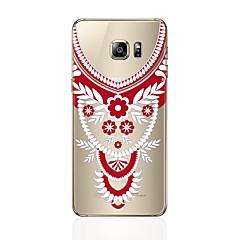 olcso Galaxy S6 tokok-Case Kompatibilitás Samsung Galaxy S8 Plus S8 Átlátszó Minta Fekete tok csipke nyomtatás Puha TPU mert S8 Plus S8 S7 edge S7 S6 edge plus