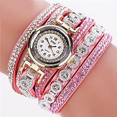 tanie Promocje zegarków-Damskie Kwarcowy Zegarek na bransoletce sztuczna Diament Skóra Pasmo Błyszczące / Modny Czarny / Biały / Srebro
