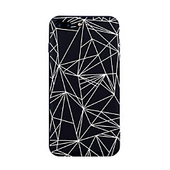 Kompatibilitás iPhone X iPhone 8 tokok Minta Hátlap Case Csempe Vonalak / hullámok Mértani formák Puha Hőre lágyuló poliuretán mert Apple