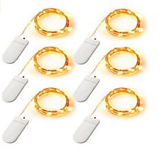 voordelige LED-verlichtingsstrips-Verlichtingsslingers 120    20*6 LEDs Warm wit Wit Meerkleurig Batterij