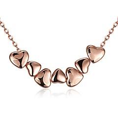 Γυναικεία Κολιέ Τσόκερ Κρεμαστά Κολιέ Κοσμήματα Cubic Zirconia Heart Shape Geometric Shape Κρύσταλλο Χαλκός Επιχρυσωμένο Με Επίστρωση Ροζ