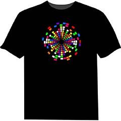 お買い得  LED アイデアライト-led Tシャツ100%綿2 aaaバッテリー高品質の夜間ライト