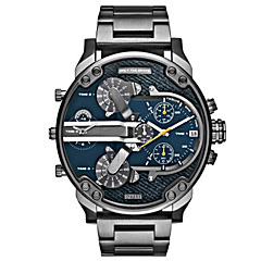 preiswerte Herrenuhren-Herrn Quartz Armbanduhr / Militäruhr / Sportuhr Chinesisch Kalender / Kreativ / Großes Ziffernblatt / Punk / Cool / Duale Zeitzonen