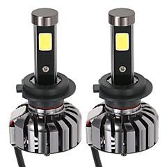 Kkmoon pereche de h7 dc 12v 40w 4000lm 6000k LED lampă far de lumină kit becuri