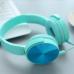 voordelige Headsets & Hoofdtelefoons-Op het oor Hoofdband Bekabeld Hoofdtelefoons Muovi Mobiele telefoon koptelefoon met microfoon Geluidsisolerende koptelefoon