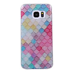 olcso Galaxy S6 Edge tokok-Case Kompatibilitás Samsung Galaxy S8 Plus S8 IMD Minta Fekete tok Mértani formák Csillogó Puha TPU mert S8 Plus S8 S7 edge S7 S6 edge S6