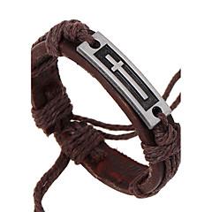 preiswerte Armbänder-Herrn Lederarmbänder - Leder Natur, Modisch Armbänder Braun Für Besondere Anlässe / Geschenk
