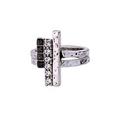 お買い得  指輪-女性用 指輪 シルバー 合金 かわいいスタイル ファッション シンプルなスタイル 結婚式 パーティー 記念日 誕生日 コスチュームジュエリー