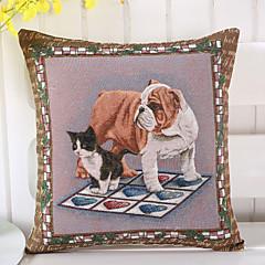 tanie Poduszki-1 szt Cotton / Linen Pokrywa Pillow Poszewka na poduszkę,Nowość Zwierząt Drukuj Przypadkowy Tradycyjny / Classic Euro
