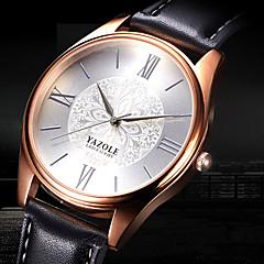 preiswerte Tolle Angebote auf Uhren-YAZOLE Herrn Armbanduhr Armbanduhren für den Alltag / Cool Leder Band Blume / Freizeit / Modisch Schwarz / Braun / SSUO 377