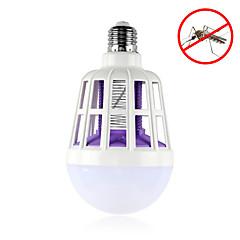 preiswerte LED-Birnen-1pc 15W 600lm E26 / E27 LED Kugelbirnen 24pcs LED-Perlen SMD 2835 Insekt-Moskito-Fliegen-Mörder Weiß 220-240V