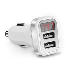 Недорогие Автоэлектроника-Быстрая зарядка QC2.0 Светодиодный дисплей Несколько портов Другое 2 USB порта Только зарядное устройство DC 5V/2,1A