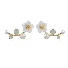 preiswerte Ohrringe-Damen Tropfen-Ohrringe - Blume Einzigartiges Design, Natur Gold / Silber Für Alltag / Normal