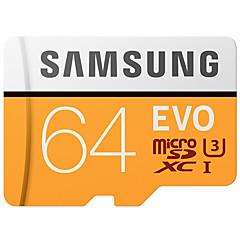 お買い得  メモリカード-SAMSUNG 64GB マイクロSDカードTFカード メモリカード UHS-I U3 クラス10 EVO