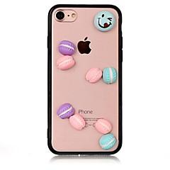 Недорогие Кейсы для iPhone 7-Кейс для Назначение Apple iPhone 7 Plus iPhone 7 Защита от удара Кейс на заднюю панель Продукты питания 3D в мультяшном стиле Твердый